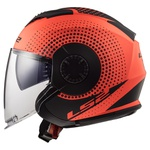 CAPACETE LS2 VERSO SPIN MATTE ORANGE/BLACK