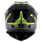 CAPACETE LS2 PIONNER EVO RING BLK/TIT/HV YELLOW