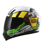 CAPACETE NORISK STUNT FF391 SPEED DRINK WHITE