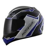 CAPACETE NORISK STUNT FF391 STORM BLACK/WHITE/BLUE