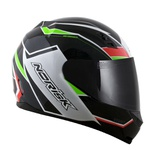 CAPACETE NORISK STUNT FF391 STORM BLACK/GREEN/RED