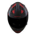 CAPACETE NORISK STUNT FF391 STRIPES MATT BLACK/RED