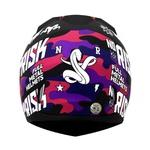 CAPACETE NORISK STUNT FF391 RIDE HARD BLACK/PINK CAMO