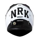 CAPACETE NORISK STUNT FF391 KNIGHT BLACK/WHITE