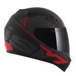 CAPACETE NORISK STUNT FF391 SQUALO MATT BLACK/RED
