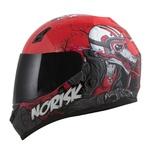 CAPACETE NORISK STUNT FF391 WOLF RED/BLACK