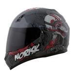 CAPACETE NORISK STUNT FF391 WOLF GREY/BLACK