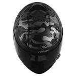 CAPACETE NORISK STUNT FF391 WAR MATT BLACK/GREY