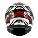 CAPACETE NORISK SOUL FF302 JUNGLE BLACK/WHITE/RED