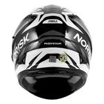 CAPACETE NORISK SOUL FF302 JUNGLE BLACK/WHITE/GREY