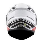 CAPACETE NORISK SOUL FF302 TARGET WHITE/BLACK/RED