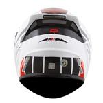 CAPACETE NORISK ROUTE FF345 MOTION WHITE/BLACK/RED