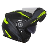 CAPACETE NORISK ROUTE FF345 MOTION MATT BLACK/FLUO YELLOW