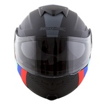 CAPACETE NORISK ROUTE FF345 STROKE MATT BLACK/BLUE/RED