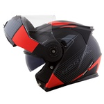 CAPACETE NORISK ROUTE FF345 STROKE MATT BLACK/GREY/RED