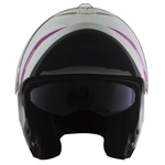 CAPACETE NORISK FORCE SIMPLICITY WHITE/PINK
