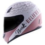 CAPACETE NORISK STUNT FF391 GIRL POWER WHITE/ROSE