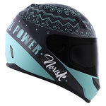 CAPACETE NORISK STUNT FF391 GIRL POWER GREY/BLUE
