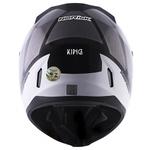 CAPACETE NORISK STUNT FF391 KING BLACK/GREY/WHITE