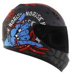 CAPACETE NORISK STUNT FF391 ZOMBIE MATTE TIT/BLUE/RED