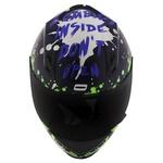 CAPACETE NORISK STUNT FF391 ZOMBIE BLUE/PINK/GREEN