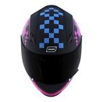 CAPACETE NORISK STUNT FF391 PIXEL MATTE BLACK/BLUE/PINK