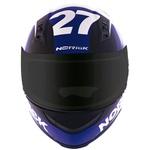 CAPACETE NORISK STUNT FF391 FURIOS WHITE/RED/BLUE