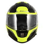 CAPACETE LS2 VECTOR FAVORER BLACK/FLUO YLW/GREY