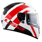 CAPACETE LS2 VECTOR TRIDENT WHITE/RED