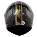 CAPACETE LS2 RAPID MEDAL BLACK/GREY/GOLD