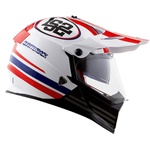 CAPACETE LS2 PIONNER EVO QUARTERBACK WHITE/RED/BLUE
