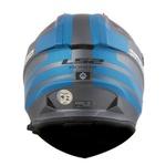 CAPACETE LS2 PIONNER EVO QUARTERBACK MATT TITANIUM/BLUE