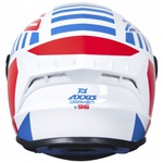 CAPACETE AXXIS DRAKEN Z96 WHITE RED BLUE