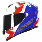 CAPACETE AXXIS DIAGON WHITE BLUE RED