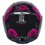 CAPACETE AXXIS EAGLE EVO FLOWERS GLOSS BLACK/PINK
