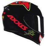CAPACETE AXXIS EAGLE MG16 CELEBRITY EDITION MARIANNY BLACK-RED