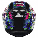 CAPACETE EAGLE SKULL BLACK-BLUE