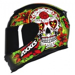 CAPACETE AXXIS EAGLE SKULL BLACK-YELLOW
