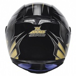 CAPACETE AXXIS SPEED GLOSS BLACK GOLD