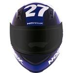 CAPACETE NORISK STUNT FF391FURIOUS WHITE/RED/BLUE