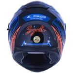 CAPACETE LS2 FF320 STREAM SYNTH PRETO/AZUL