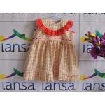Vestido Infantil Floral com Babadinho