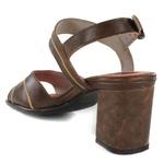 Sandália Em Couro Laranja J.Gean Outlet