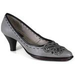 Sapato Scarpin Em Couro Loren Aço J.Gean Outlet