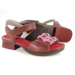 Sandália em Couro Emily Vermelha J.Gean Outlet
