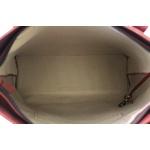 Bolsa Artesanal em Couro e Casco Vermelha J.Gean