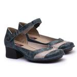 Sapato New Kelly Denin Em Couro J.Gean