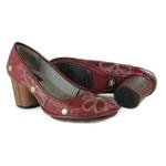 Sapato Em Couro Vermelho J.Gean Outlet