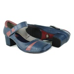Sapato Galeany Médio Em Couro Navy J.Gean OUTLET