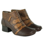 Bota New Kelly Coffee Em Couro J.Gean OUTLET